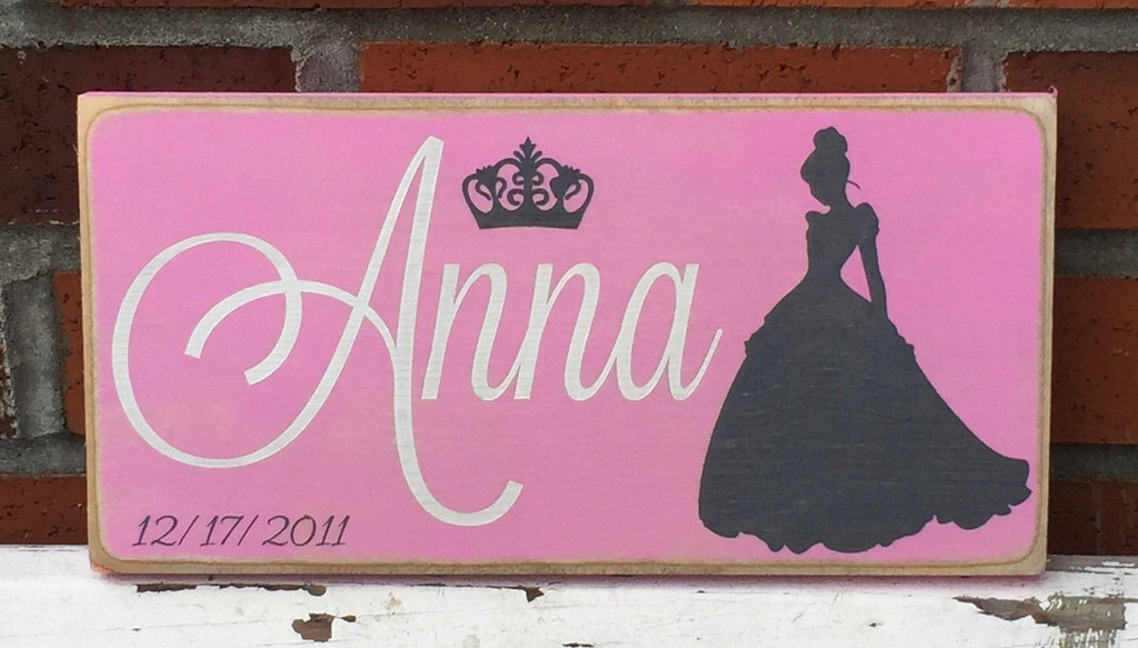 Little Girl Princess Name Sign