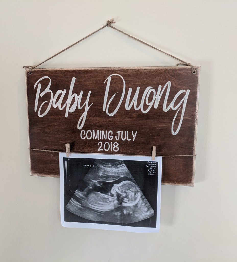 Baby Birth Announcement Sign