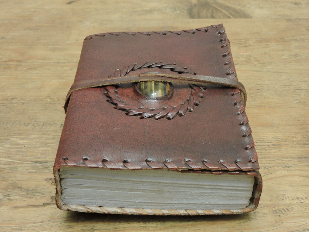 old world leather journal - small