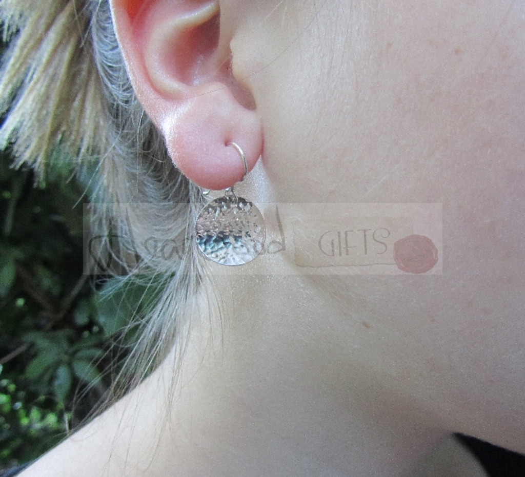 smallcombe hammered silver earrings