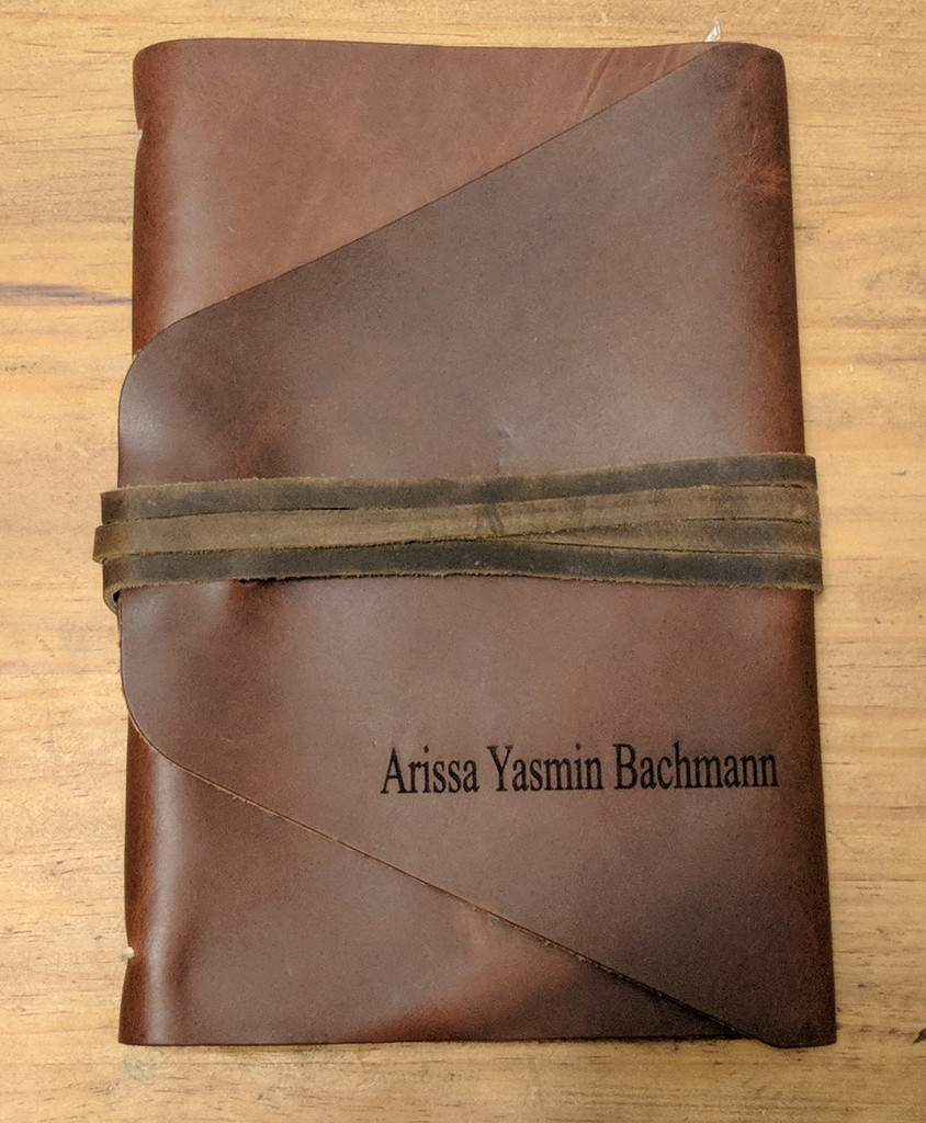 Personalized journal in Times Roman font