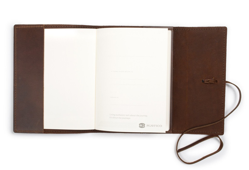 leather notebook - writers log lined paper journal