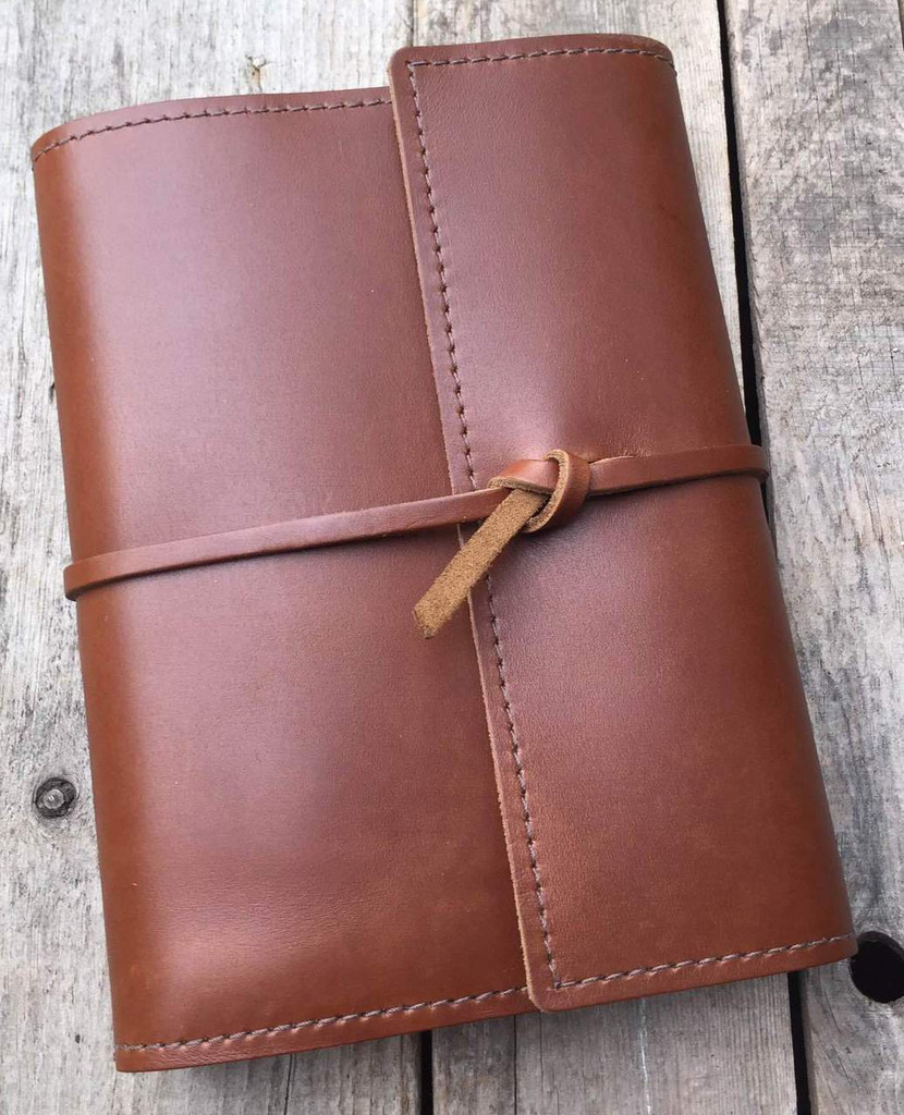 Leather notebook refillable journal