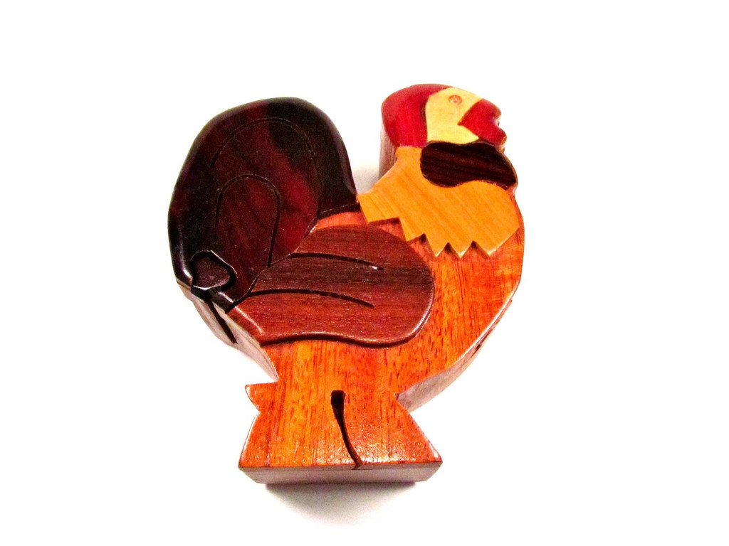 puzzle box rooster