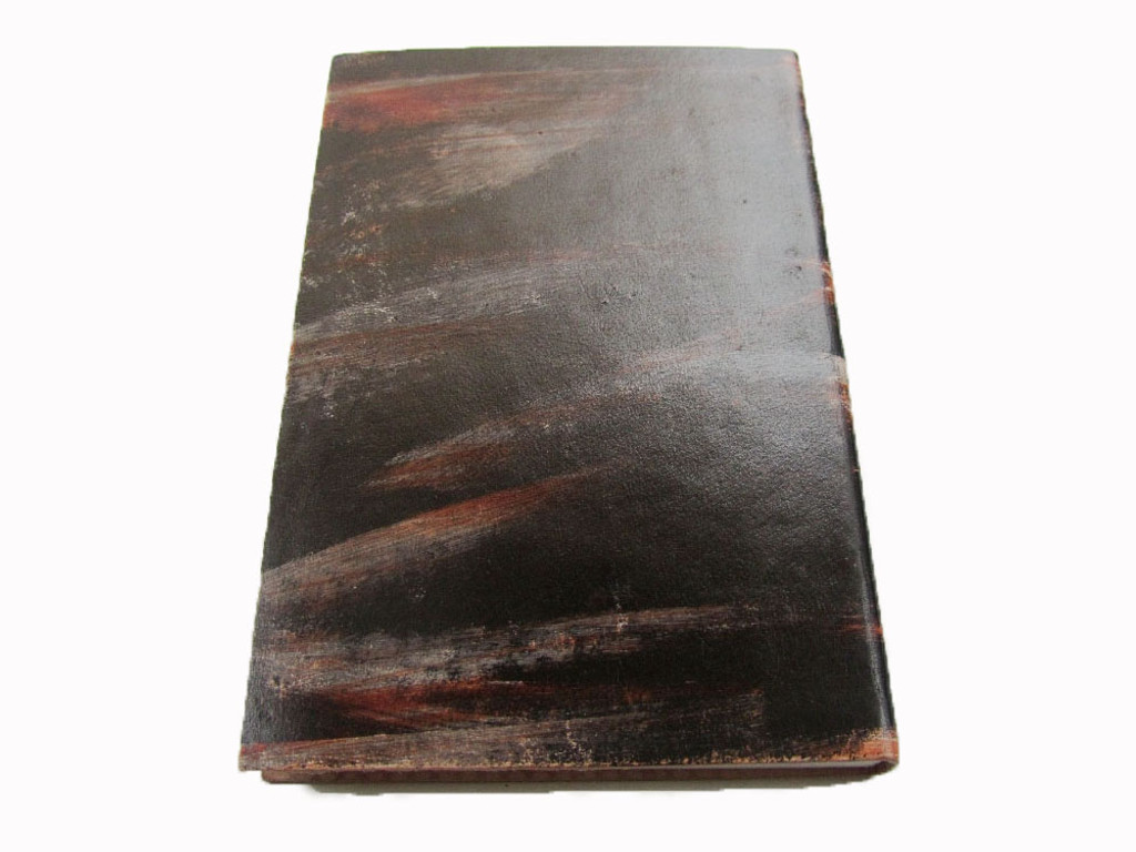 distressed leather journal - back