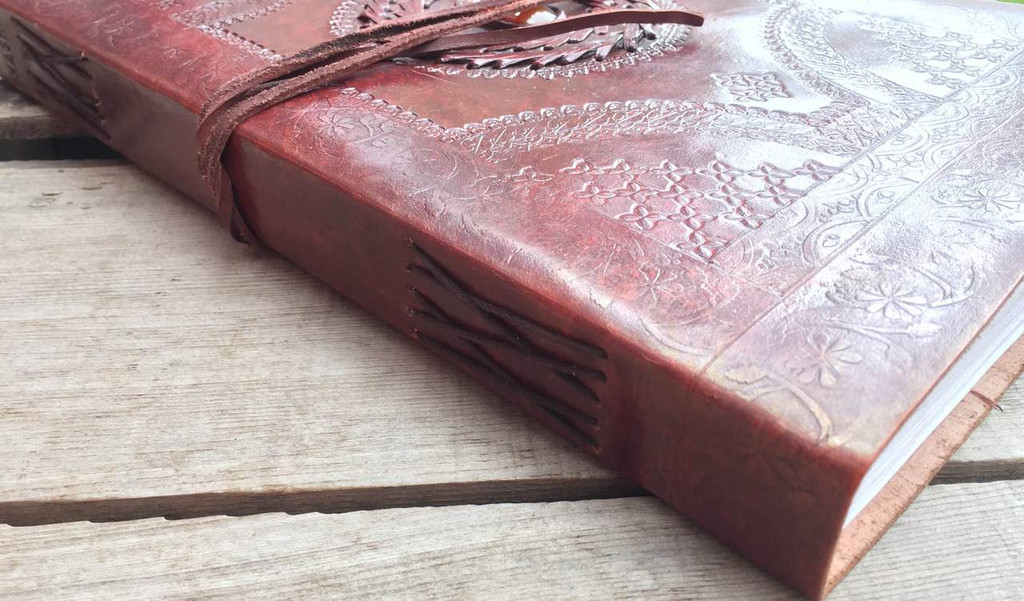 journal - side profile with paper bound stitching