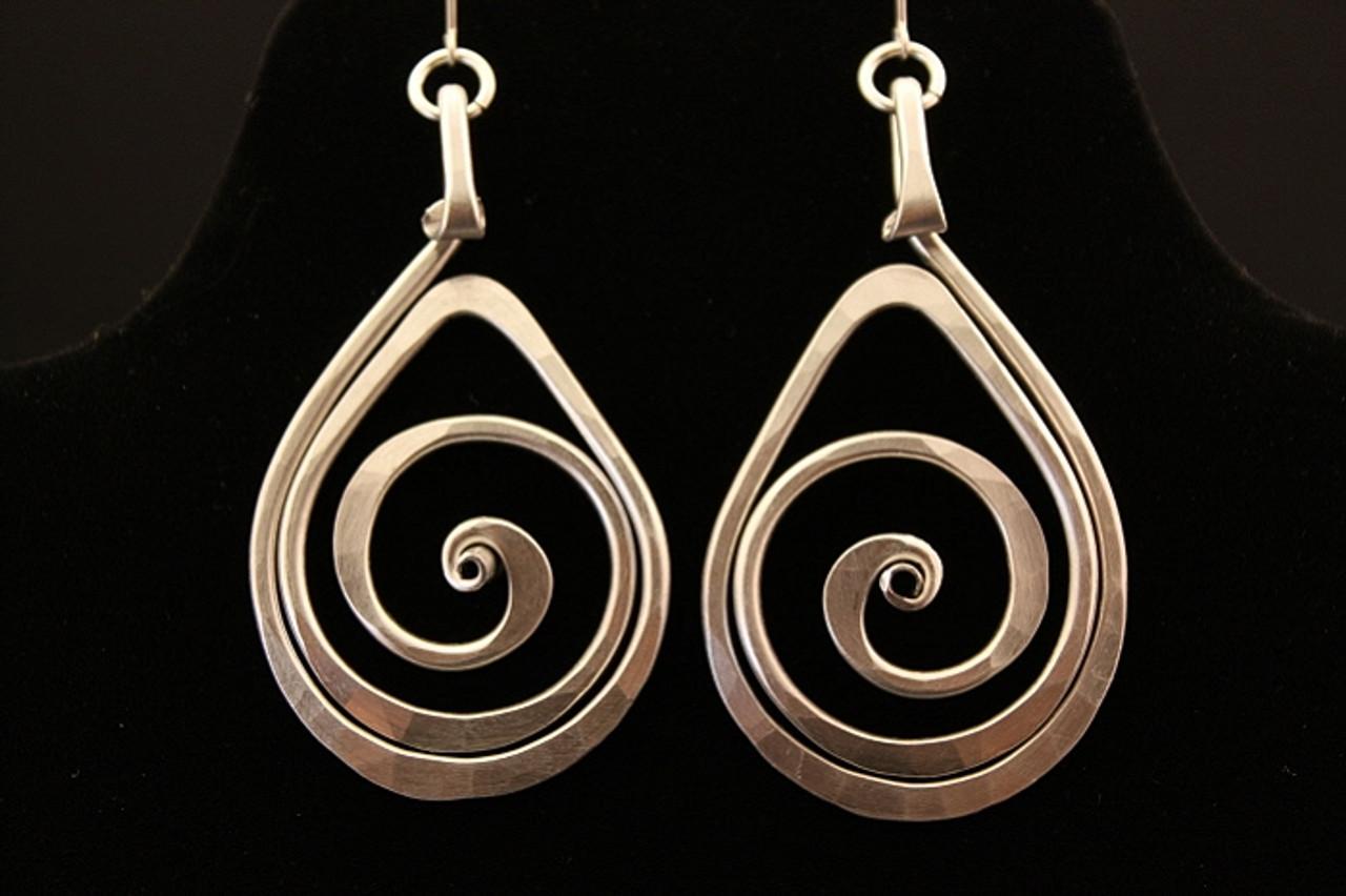 Spiral Teardrop Earrings