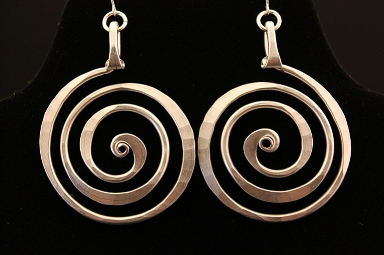 Spiral Circle Earrings