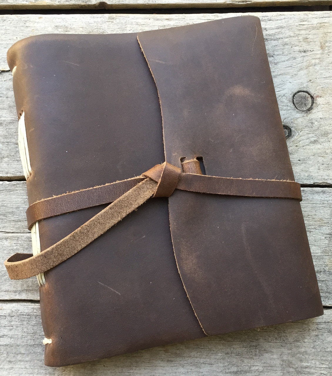 "Leather Journal Brown 6.5"" x 7.5"""