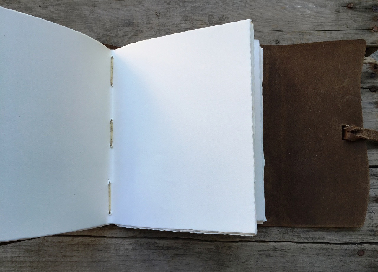 Archival paper in Leather Journal