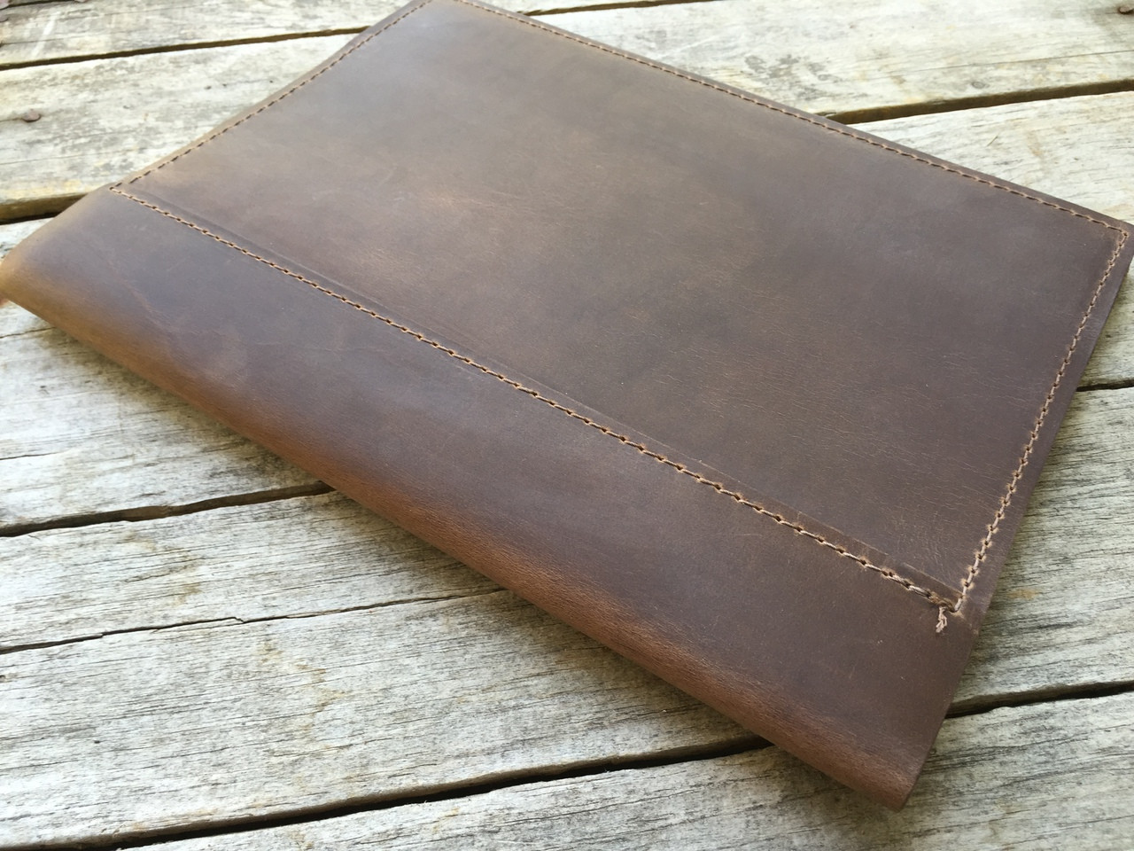 dark brown leather journal