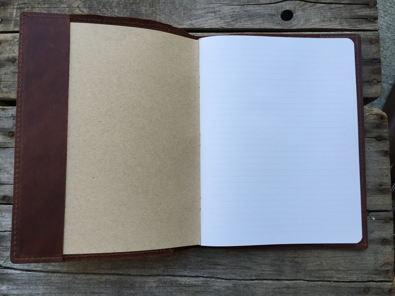 Inside Composition Leather Journal with Lined Paper