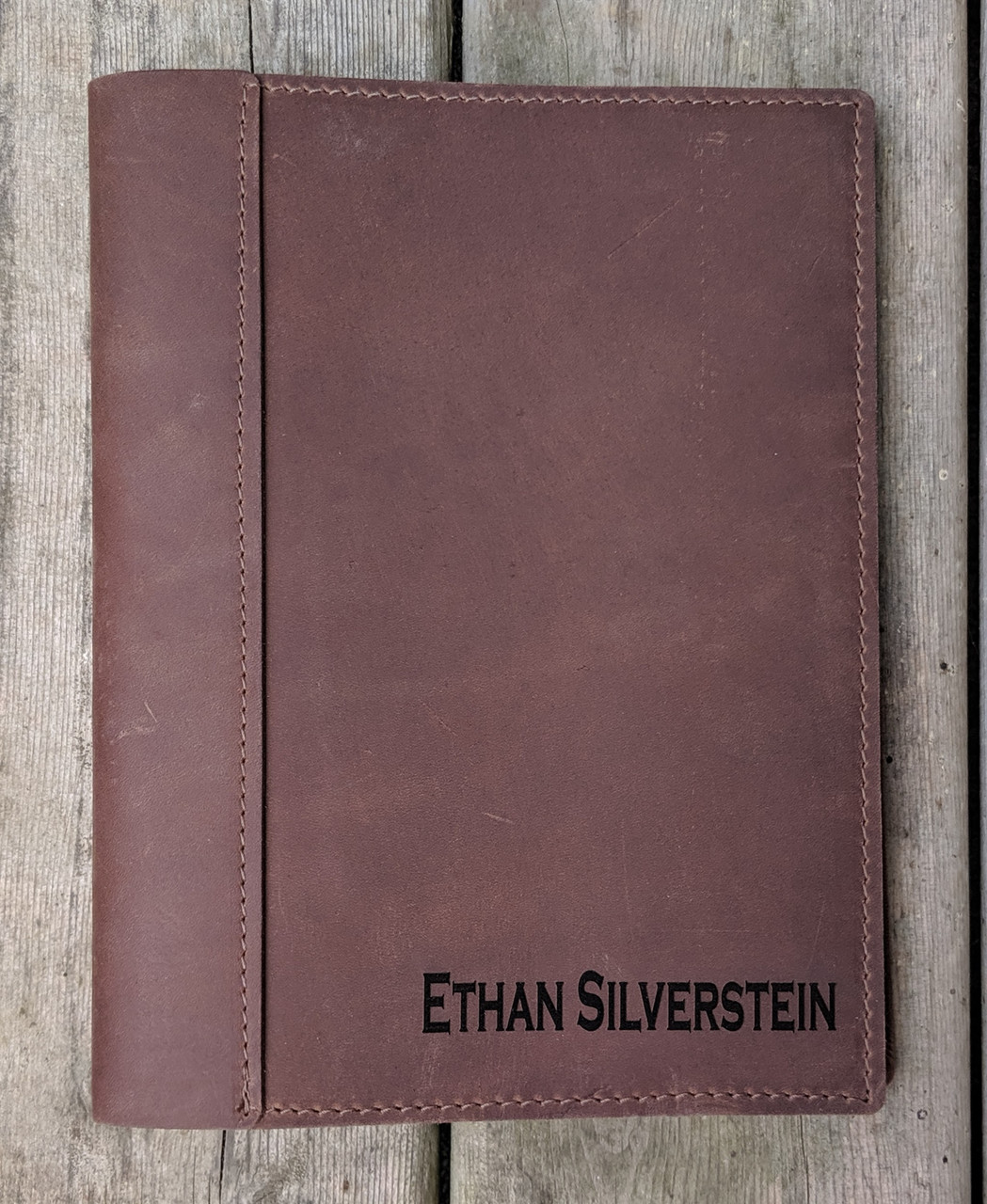 Personalized Name on leather journal