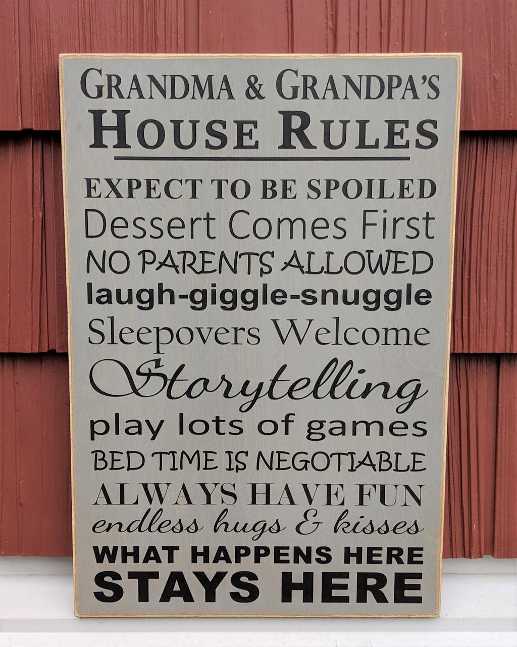 Grandpa & Grandma's House Rules Sign