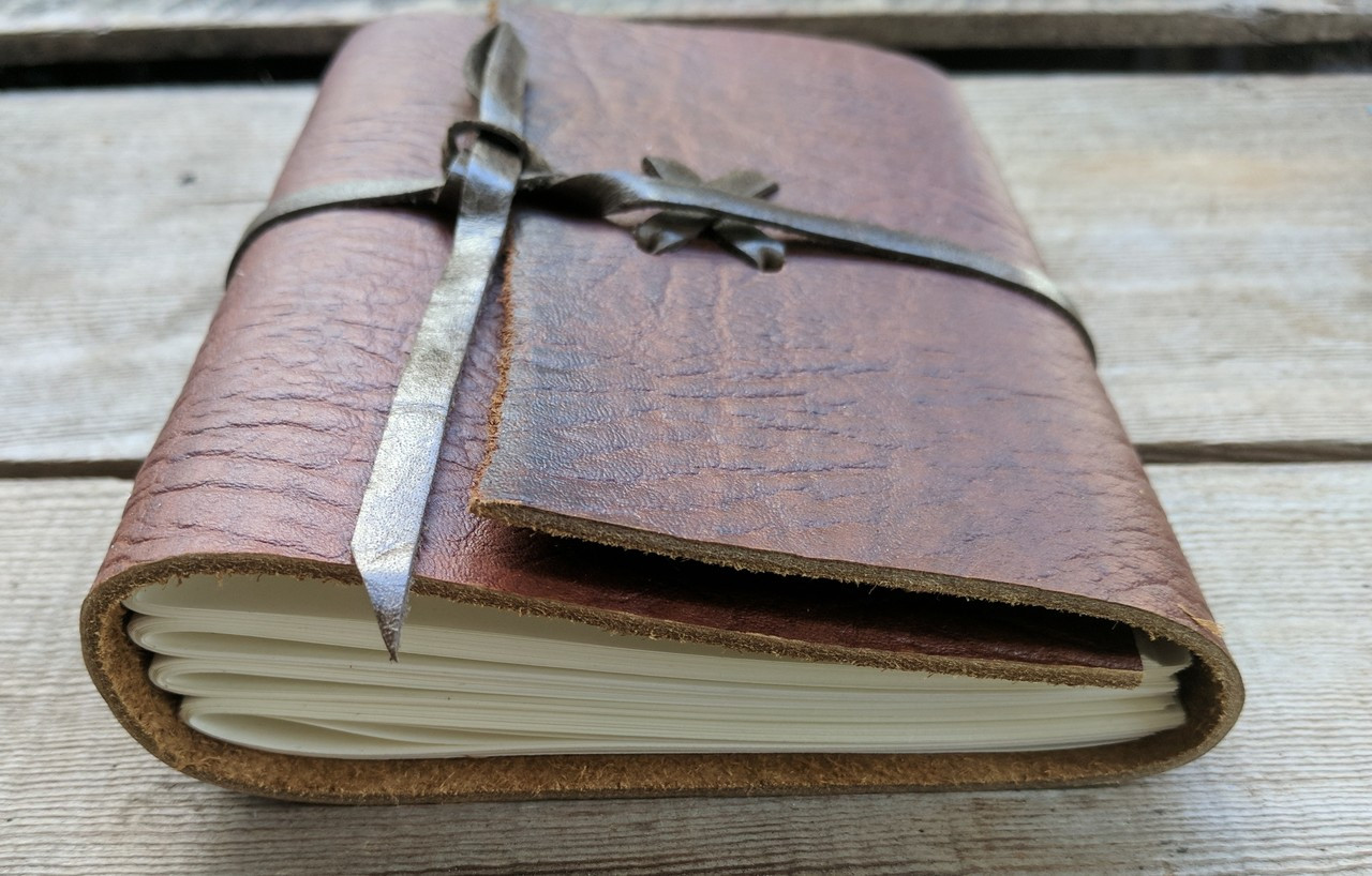 Leather Journal - Small C - archival paper view