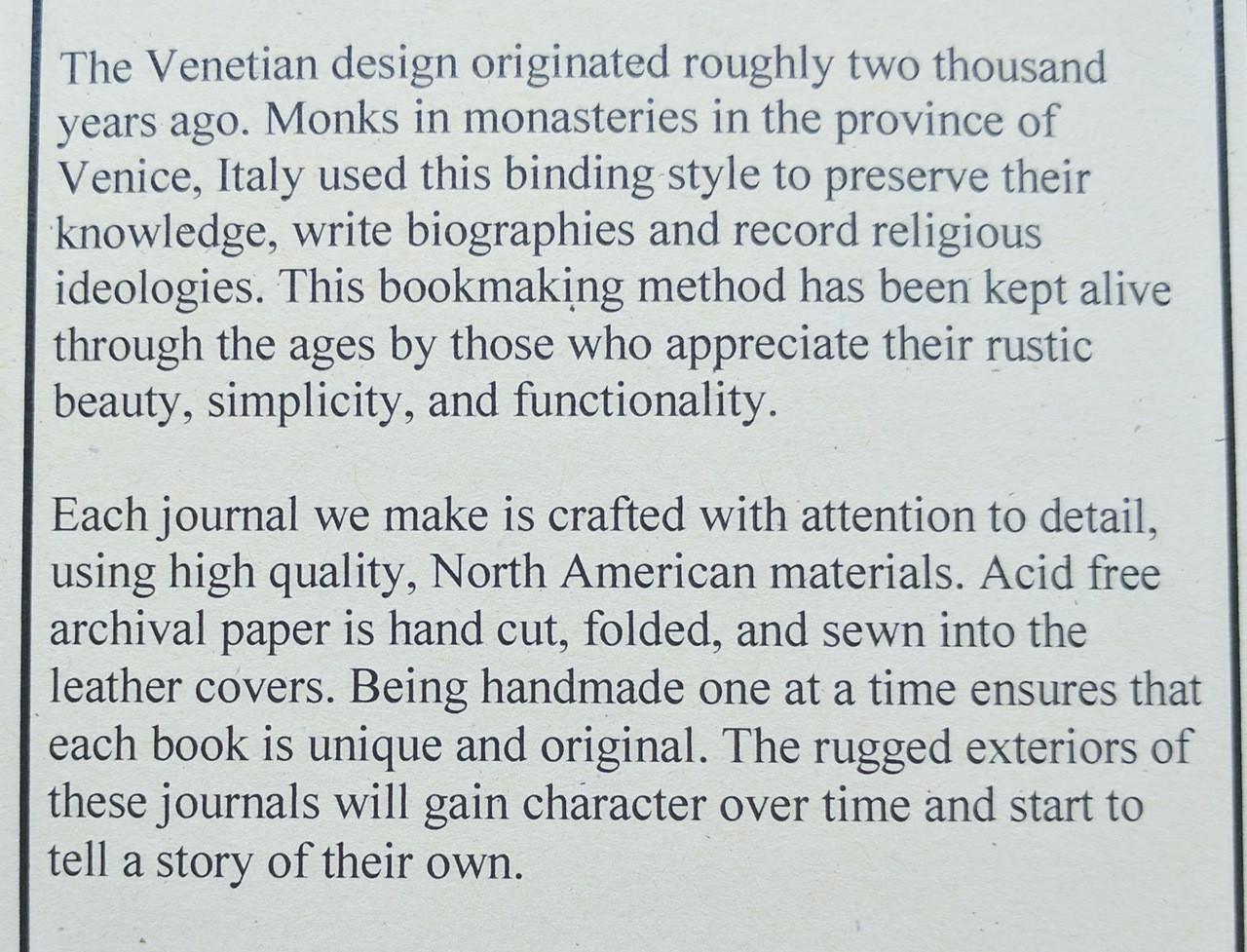 Spellbinding Venetian Journals Card