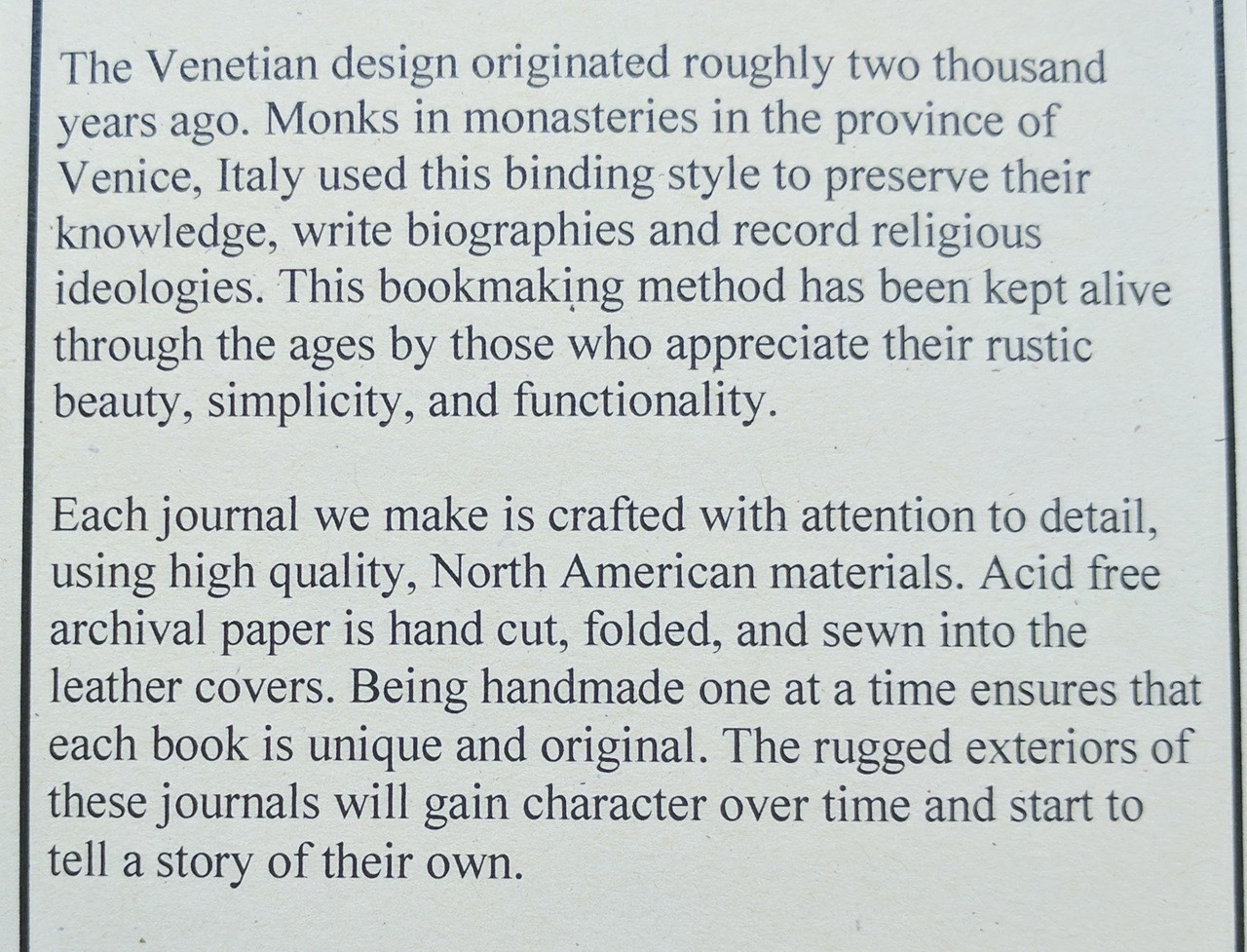 venetian leather journals