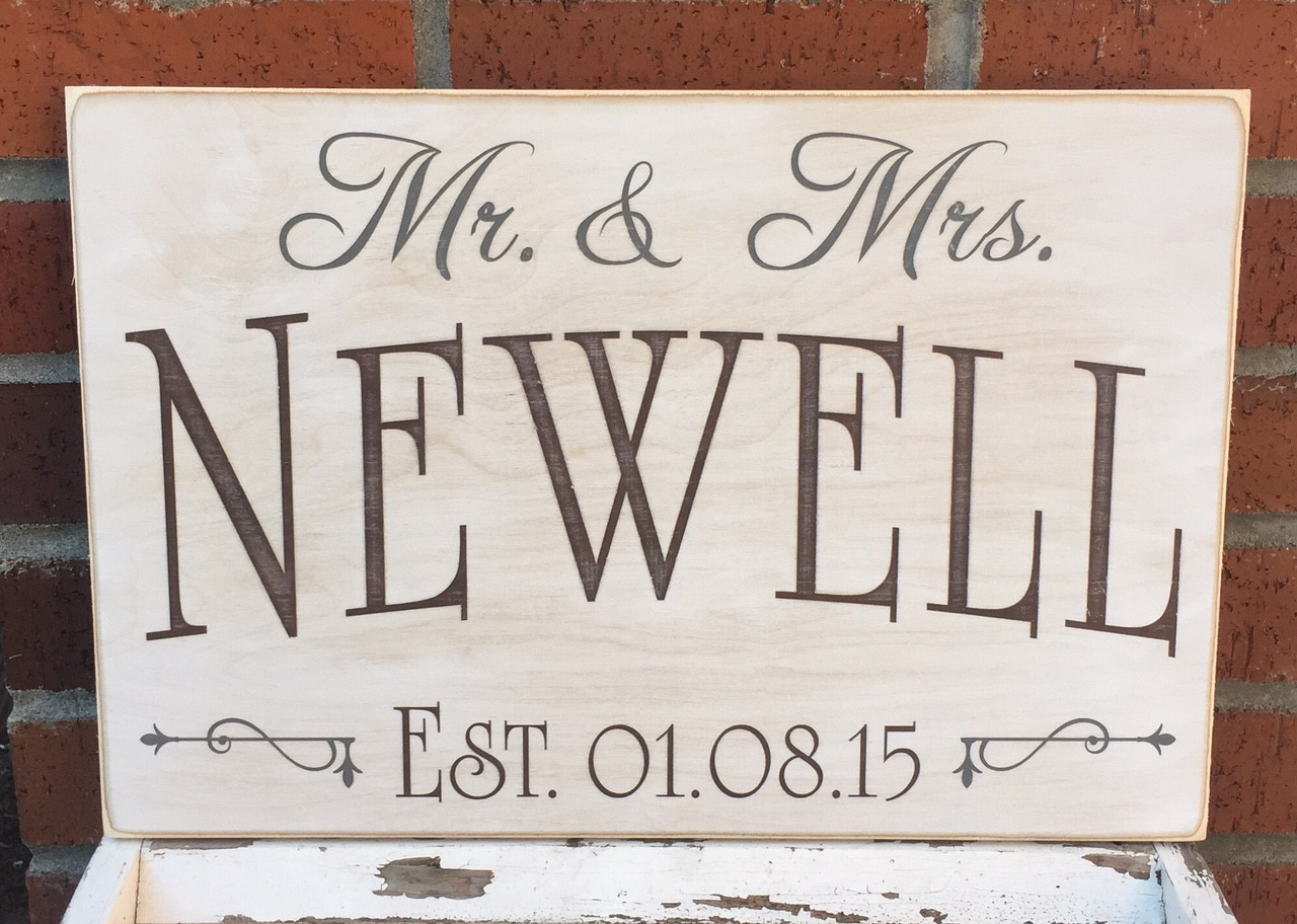 wedding gift idea - custom wood sign