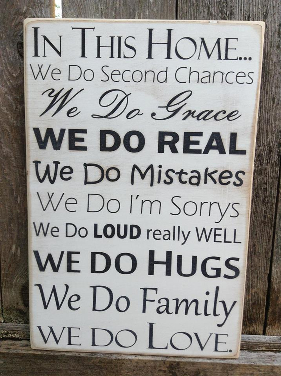 Wood Sign - In This Home We Do - 12x18