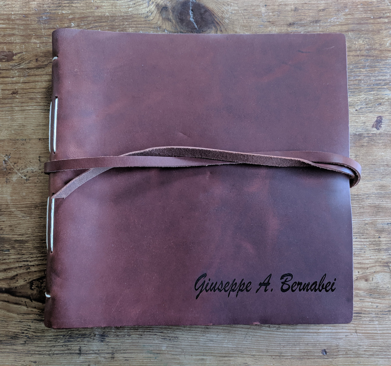 Personalized Leather Journal with Name