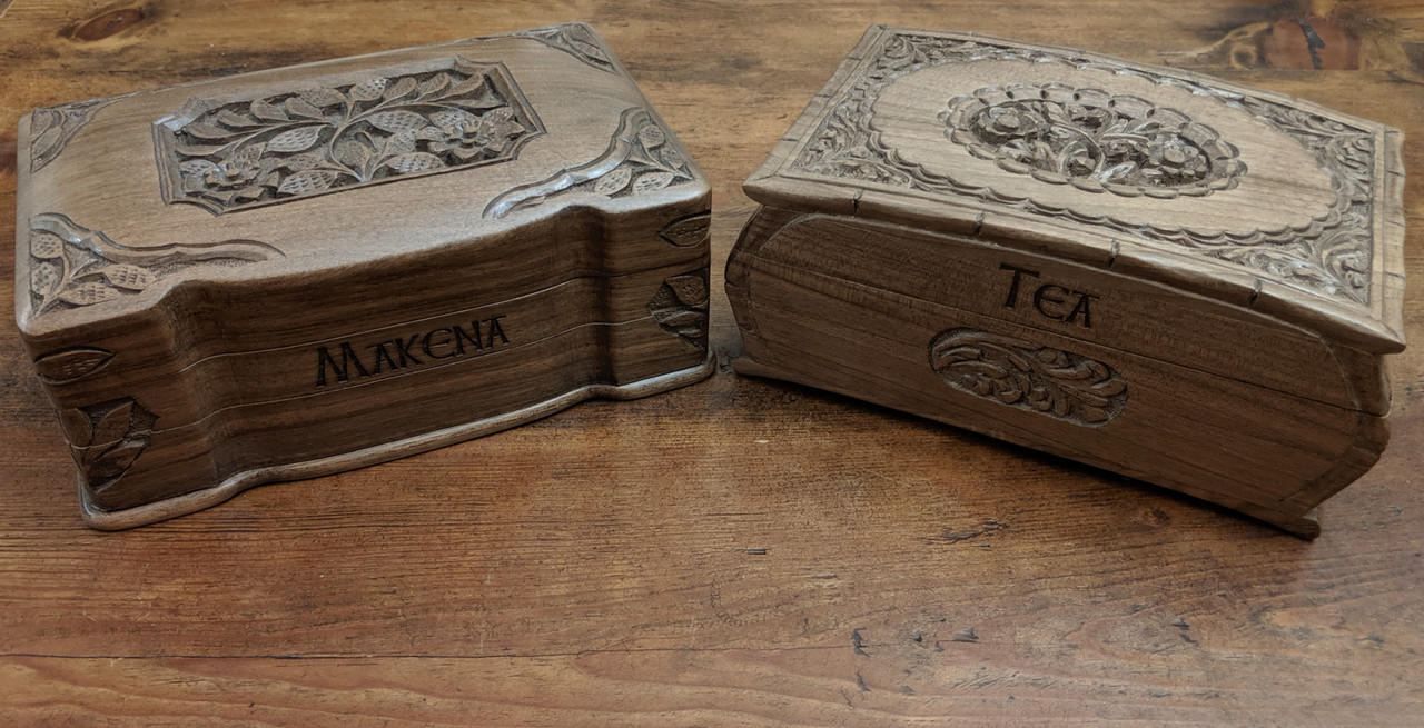 Engraving Example on Rustic Jewelry Box - Pic 2