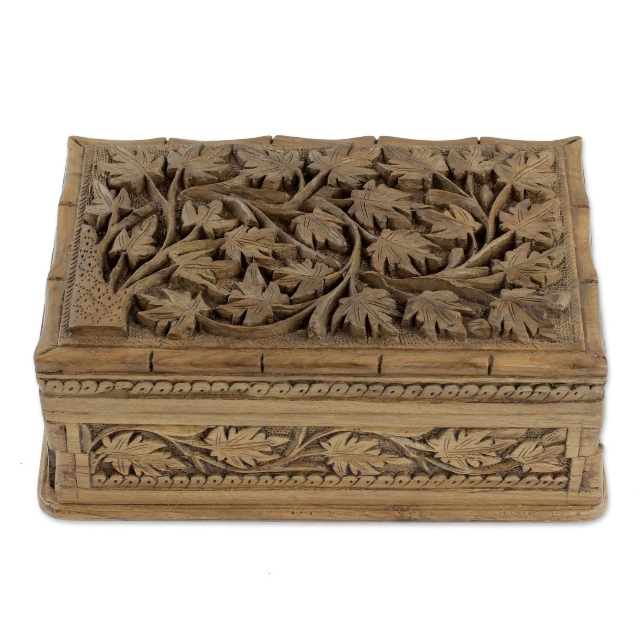 """Rustic jewellery box """"Ivy Love"""" - Front"""