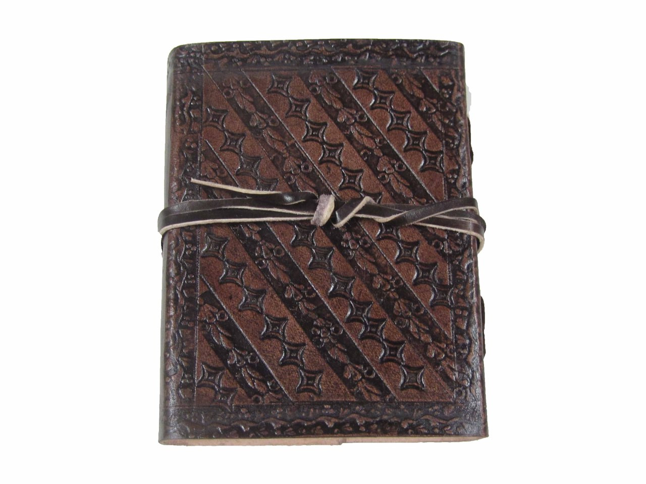 Heartwood small tooled leather journal - back view