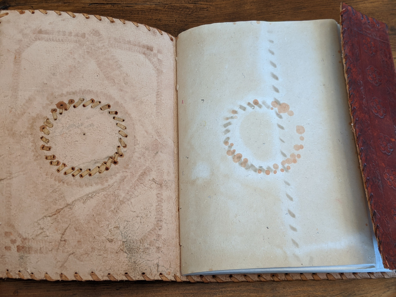 OLD WORLD Leather Journal - inside cover
