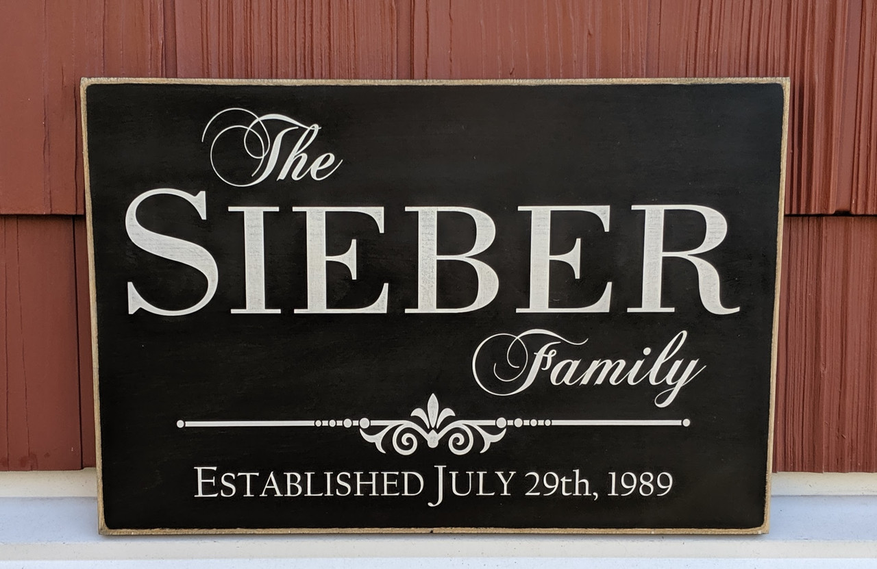 Family Sign with Established Date