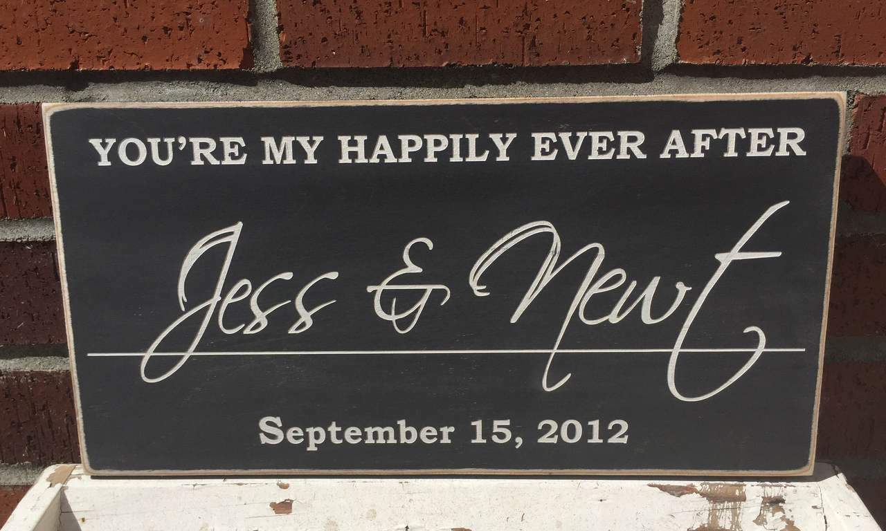 You're My Happily Ever After - Personalized Wood Sign