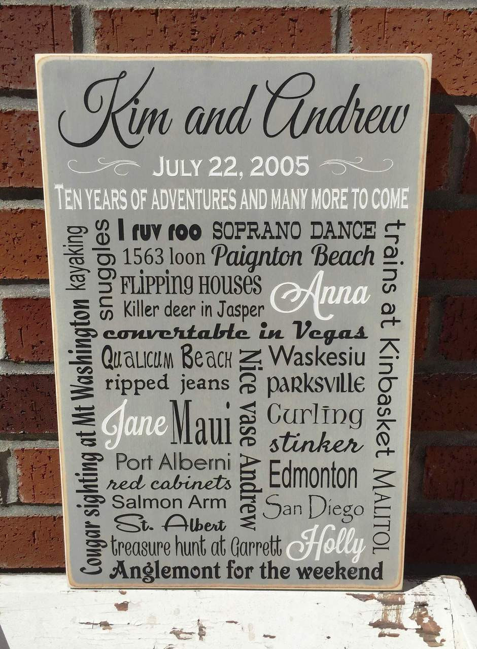 personalized family memories wood sign