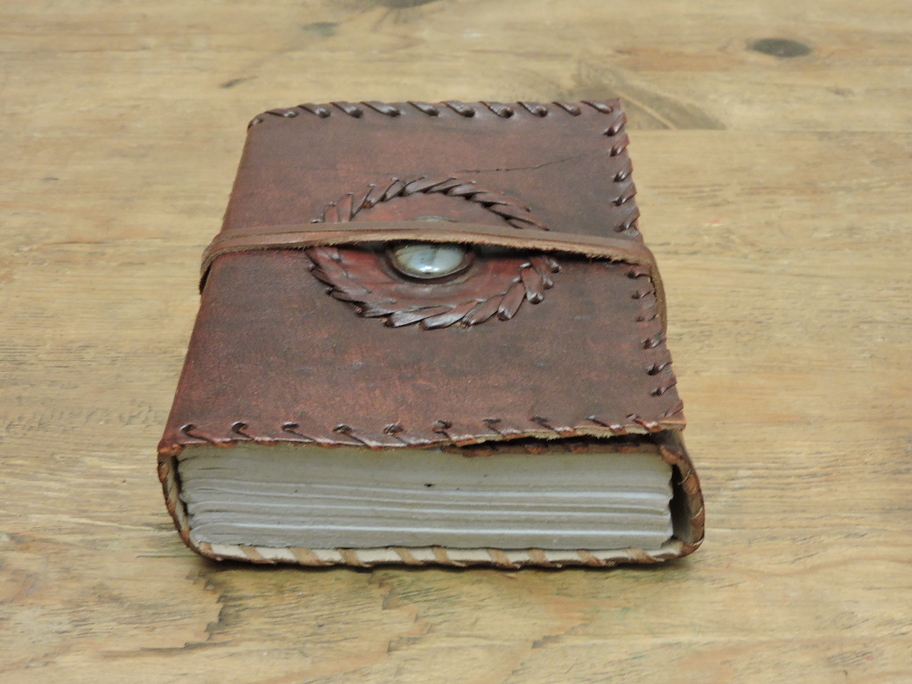 old world leather journal - small - paper view