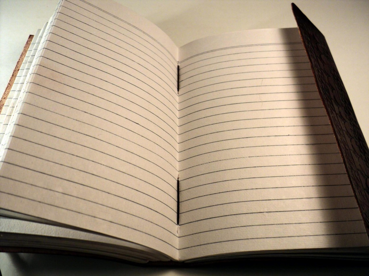 Leather Journal Medium with LINED PAPER 9 x 5