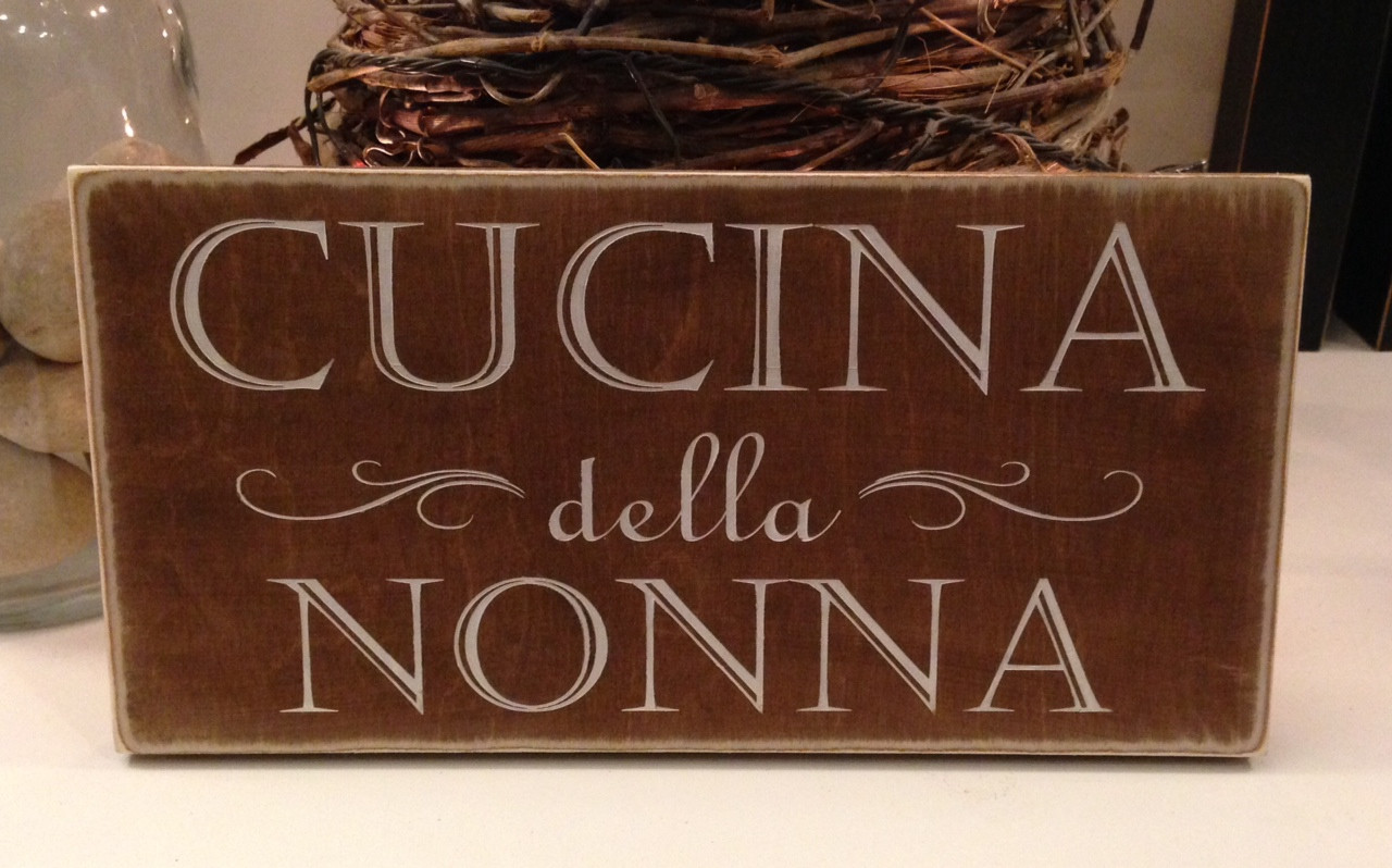 Cucina Custom Sign