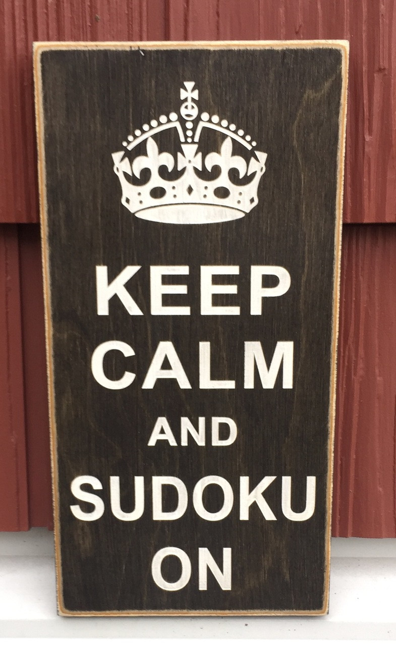 Keep calm and sudoku on sign
