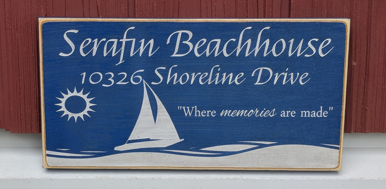 Custom beachhouse sign