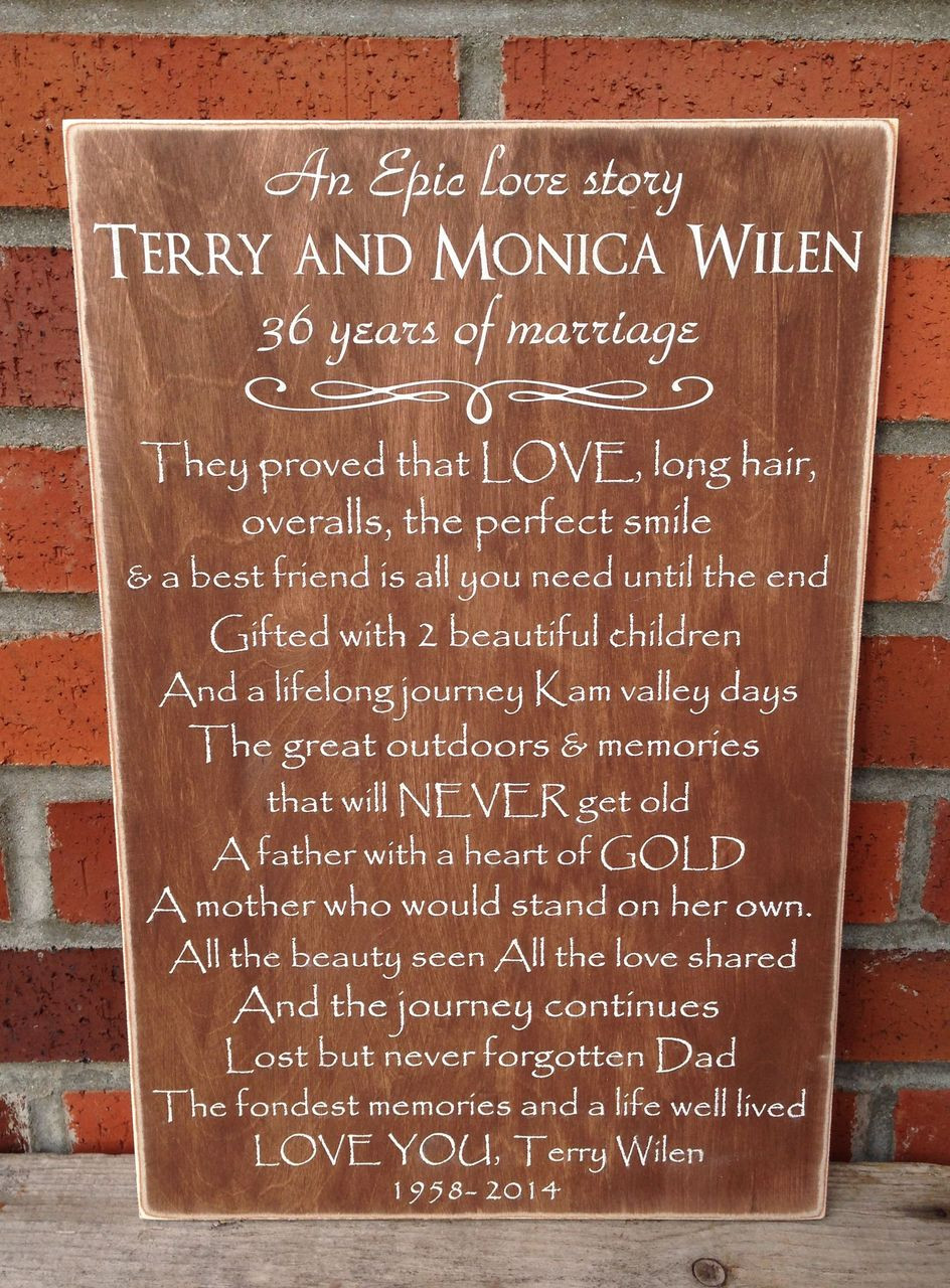 Memorial Sign Custom Made