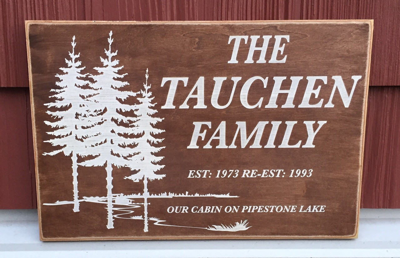 Customized family wood sign