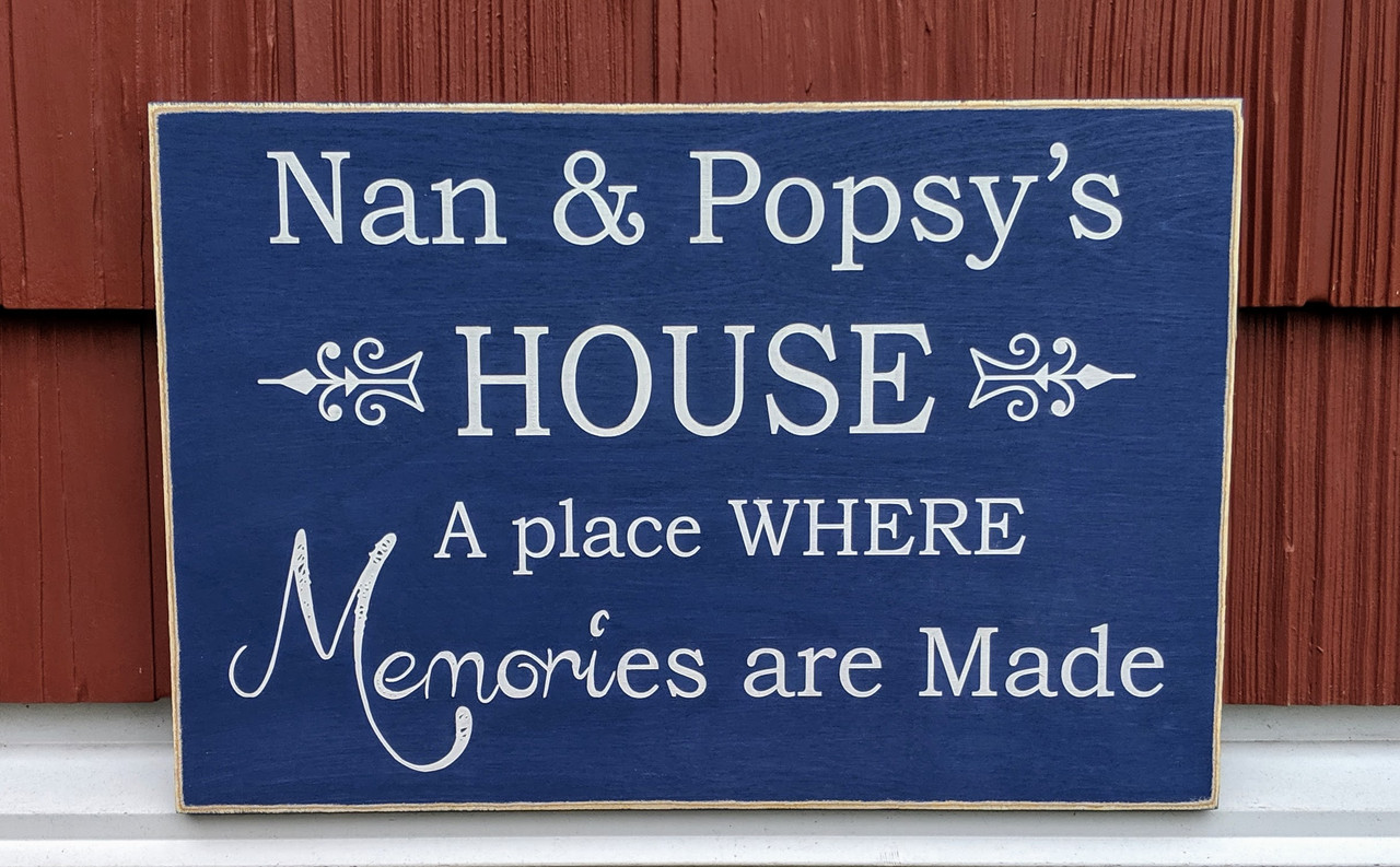 custom wood sign for grandparents - a place where memories are made