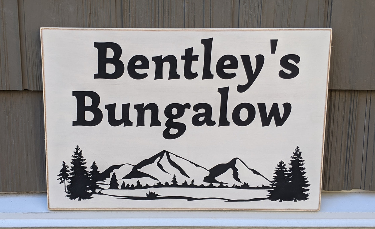 Cottage sign personalized