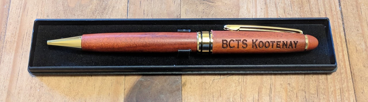 engraved personalized rosewood pen