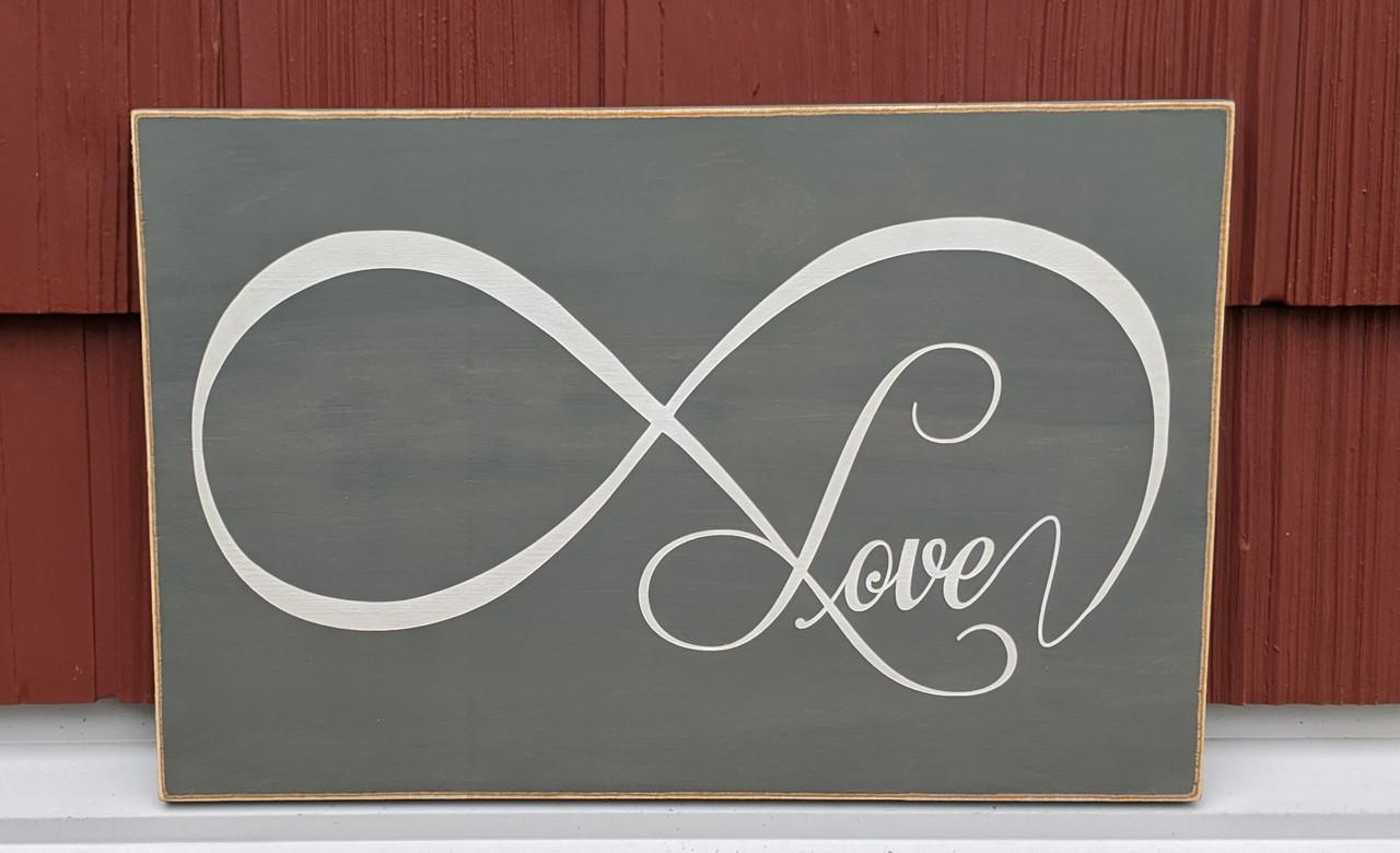 Love Eternity wood sign