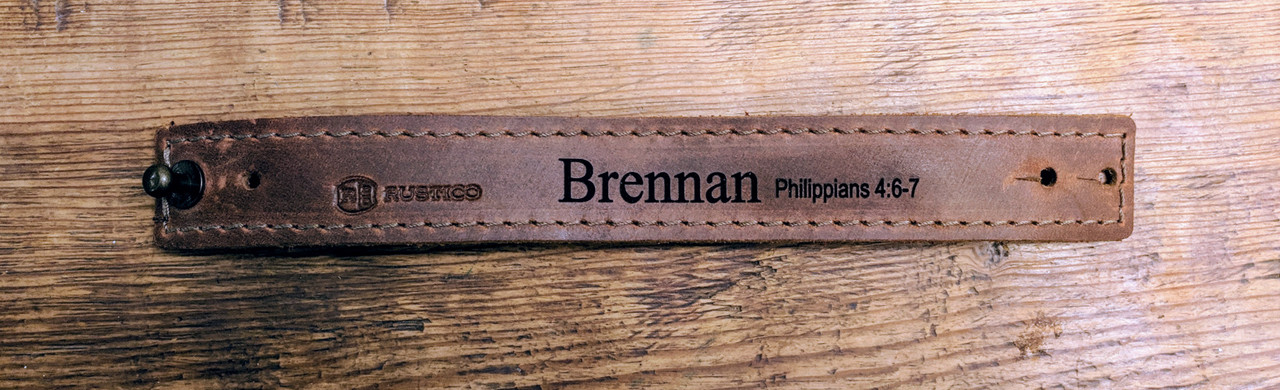 Personalized leather wrist band
