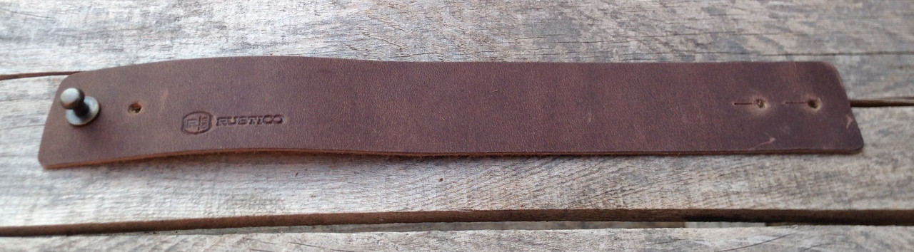 """Wide leather wrist band 9.5"""" long"""