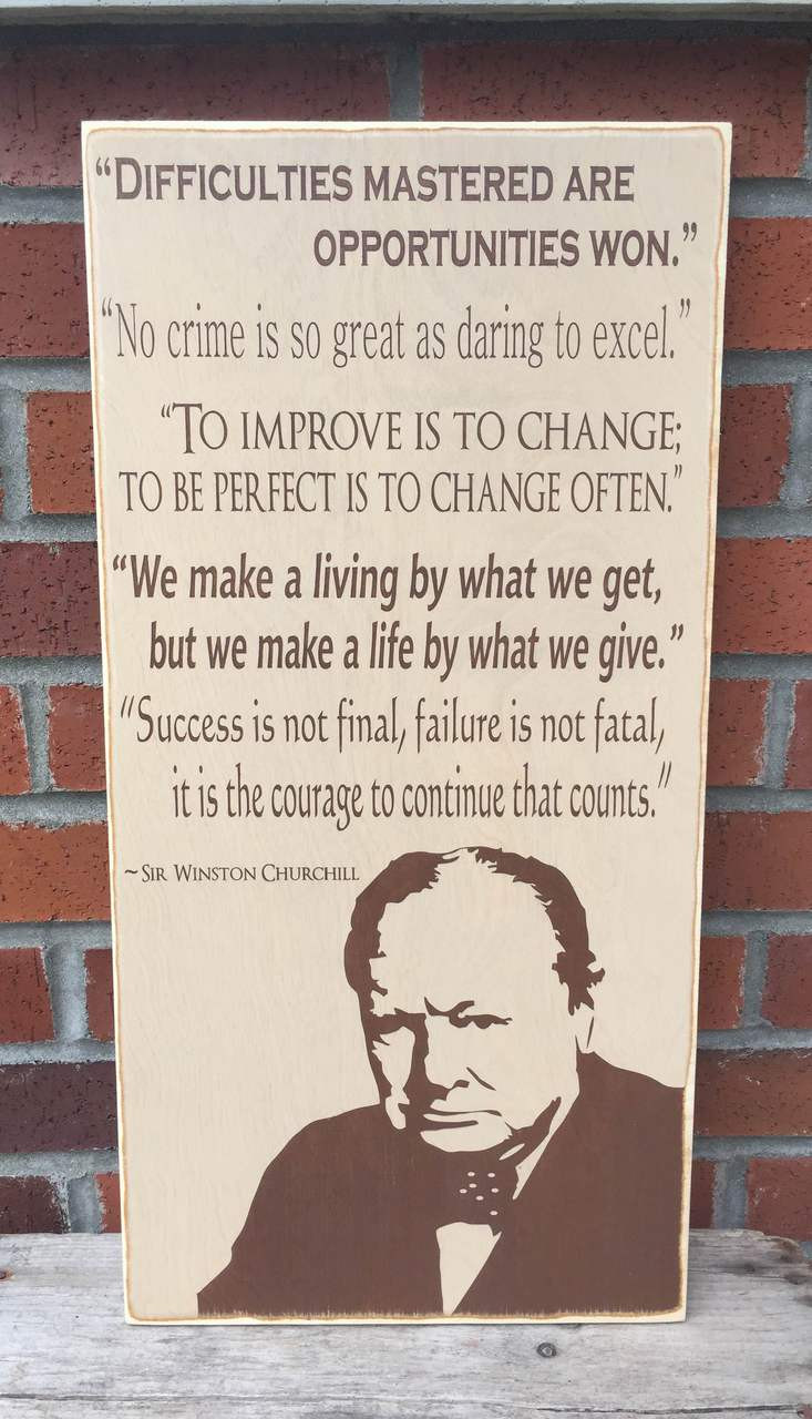 Winston Churchill Sign