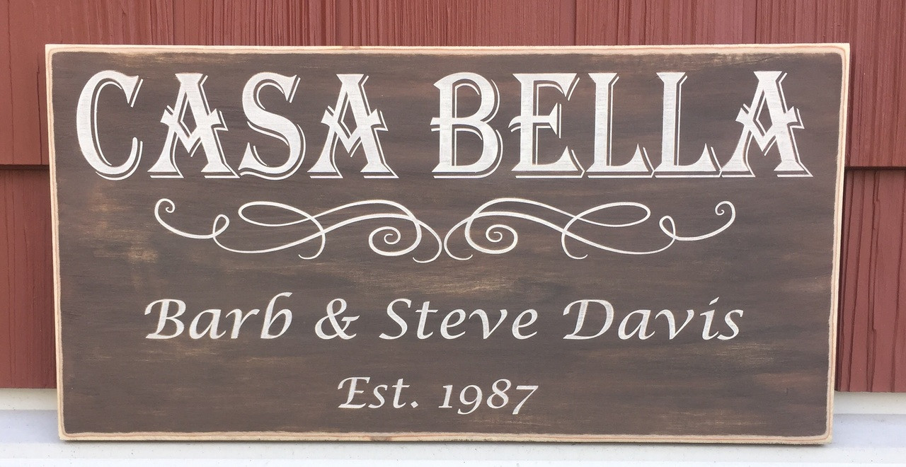 Casa Bella Personalized Sign