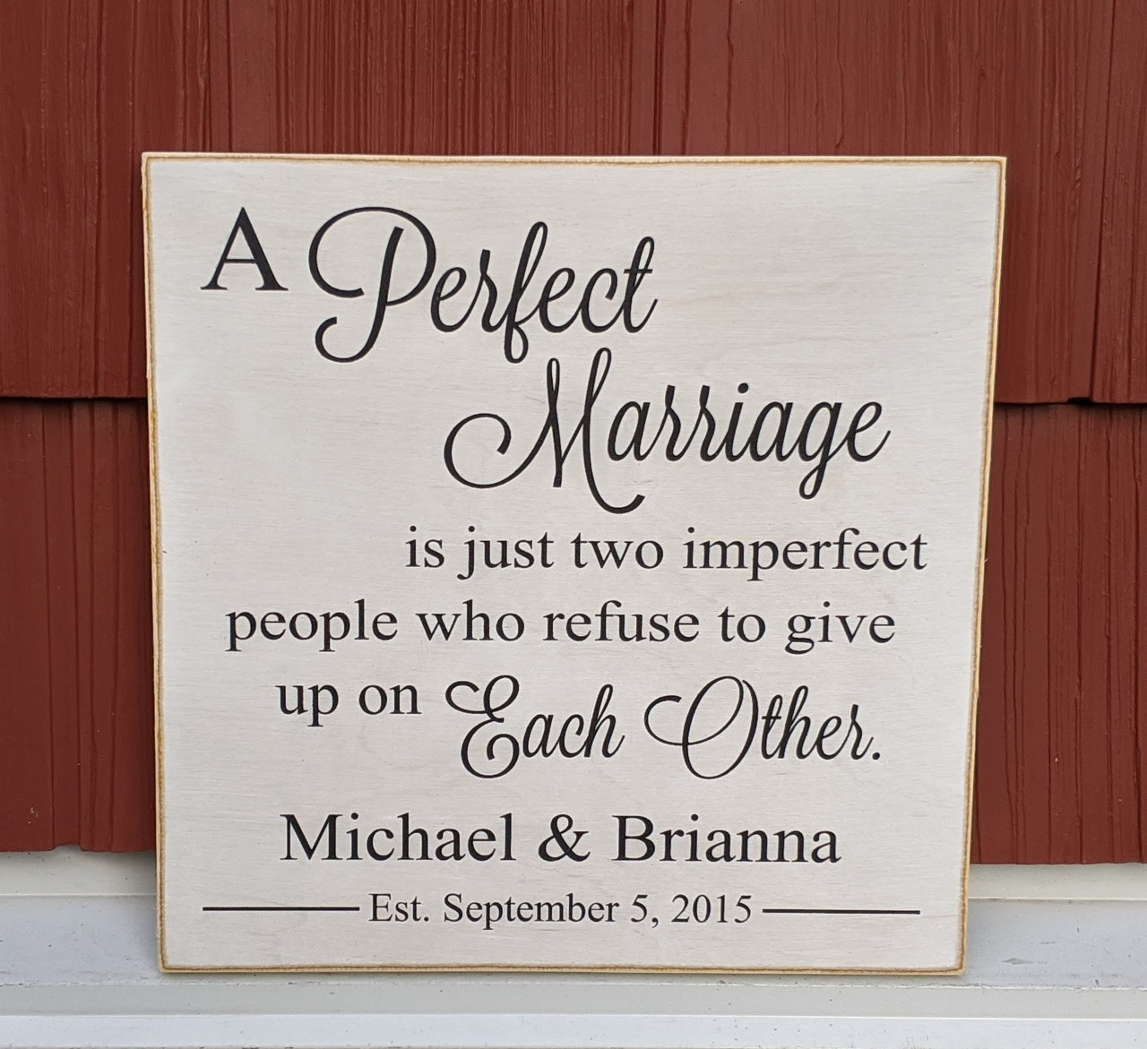 Personalized Couple Gift - Wood Sign