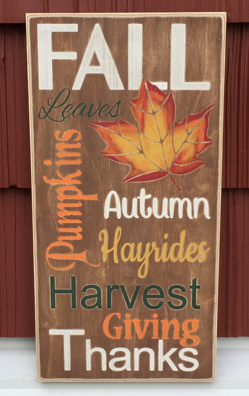 Fall - Autumn Season Wood Sign