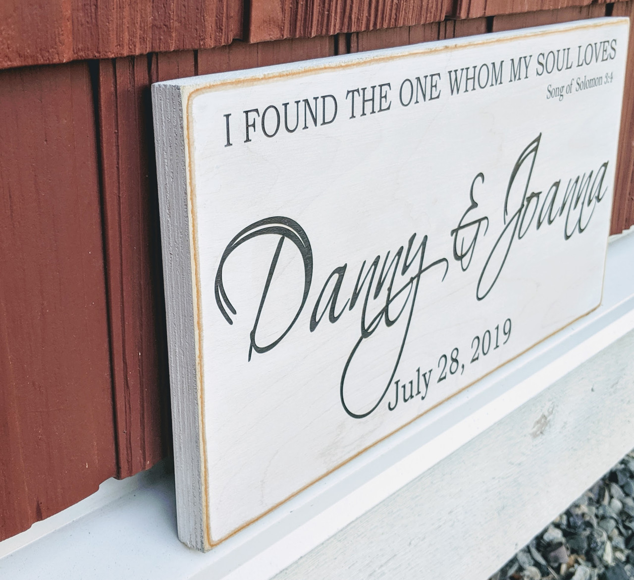 I found the one whom my soul loves wood sign personalized wood sign