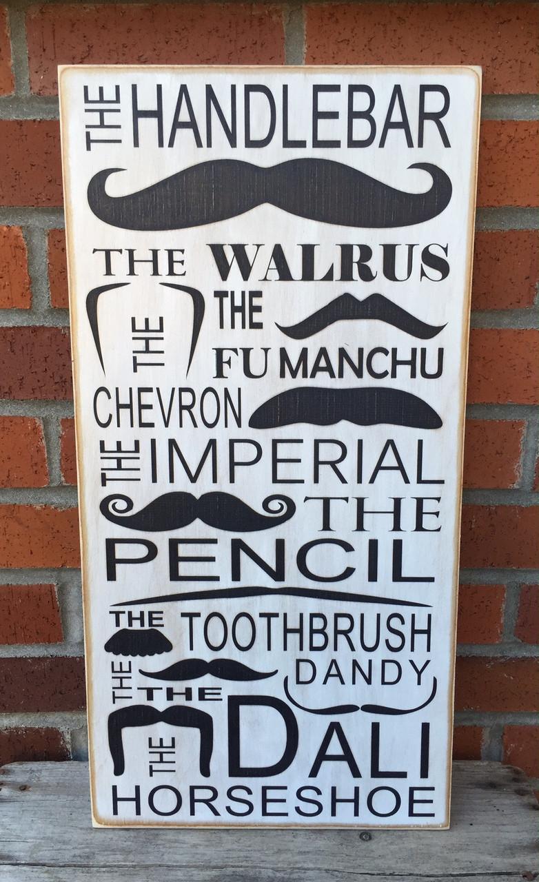 Mustache sign